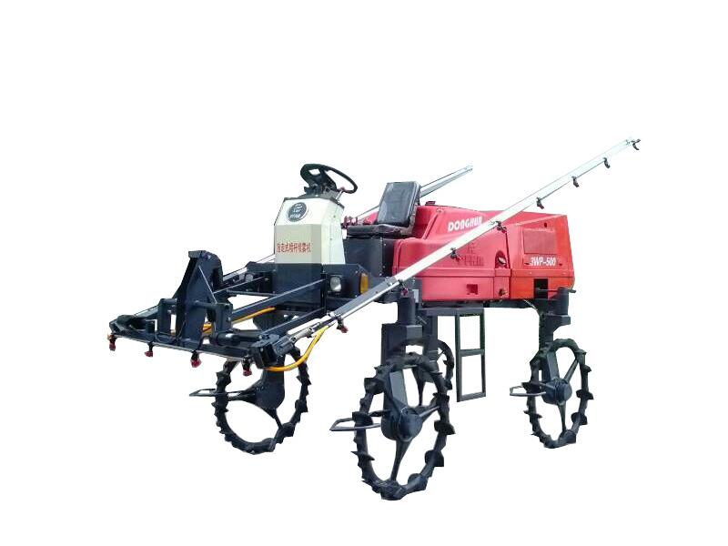 华丰工控全液压四轮驱动喷杆喷雾机样机
